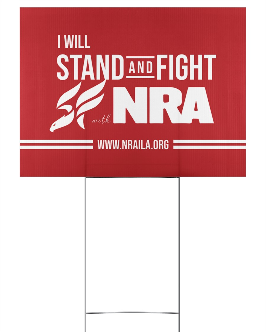 NRA BASIC Yard Sign 24x18 Yard Sign