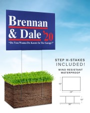 Brennan and dale 2020 yard sign 24x18 Yard Sign aos-yard-sign-24x18-lifestyle-front-30
