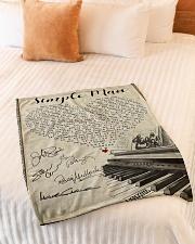 "Simple Man Small Fleece Blanket - 30"" x 40"" aos-coral-fleece-blanket-30x40-lifestyle-front-01"