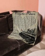"Simple Man Small Fleece Blanket - 30"" x 40"" aos-coral-fleece-blanket-30x40-lifestyle-front-05"