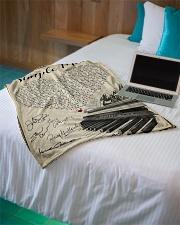 "Simple Man Small Fleece Blanket - 30"" x 40"" aos-coral-fleece-blanket-30x40-lifestyle-front-10"