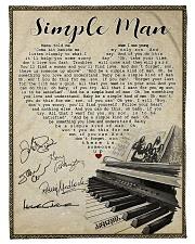 "Simple Man Small Fleece Blanket - 30"" x 40"" front"
