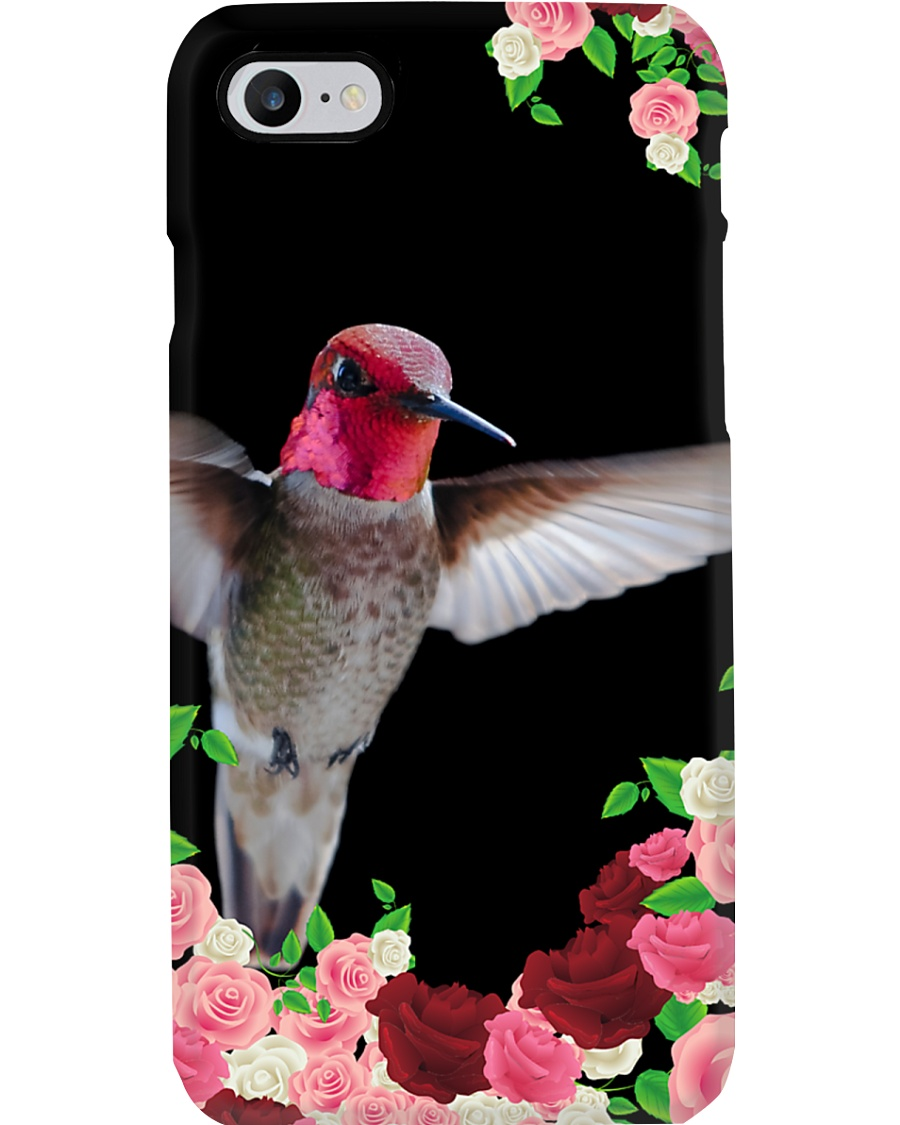 Hummingbird in Roses Phone Case