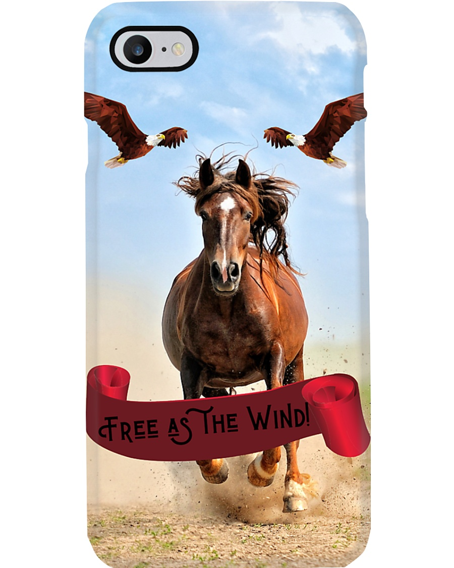 Galloping Horse and Flying Eagles Phone Case