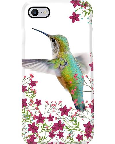 Blue Green Hummingbird on White Background