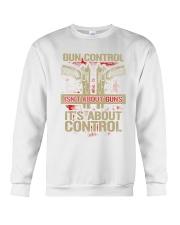 01 Gun Control Not About Guns Crewneck Sweatshirt thumbnail