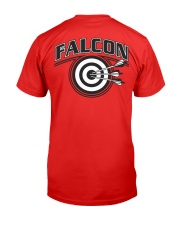 Falcon Archers Retro Logo 2 Premium Fit Mens Tee back