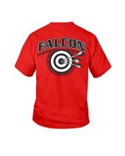 Falcon Archers Retro Logo 2 Youth T-Shirt back
