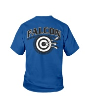 Falcon Archers Retro Logo 2 Youth T-Shirt back