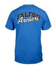 Falcon Archers Retro Logo 1 Premium Fit Mens Tee back