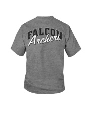 Falcon Archers Retro Logo 1 Youth T-Shirt back