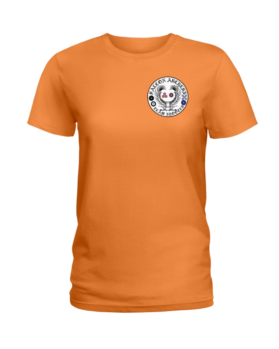 Falcon Archers Retro Logo 1 Ladies T-Shirt