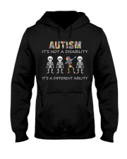 Autism Its NOT A DISABILITY Dabbing Skeleton Hooded Sweatshirt thumbnail