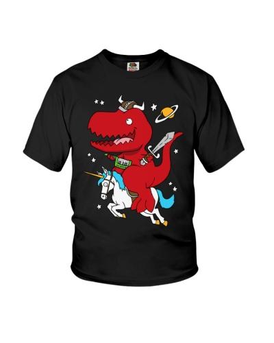 Dino tee unicorns rainbows viking funny dino