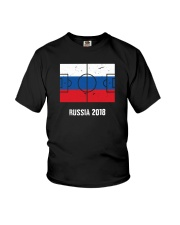 Russia Team World Cup 2018 Flag Jersey Youth T-Shirt thumbnail