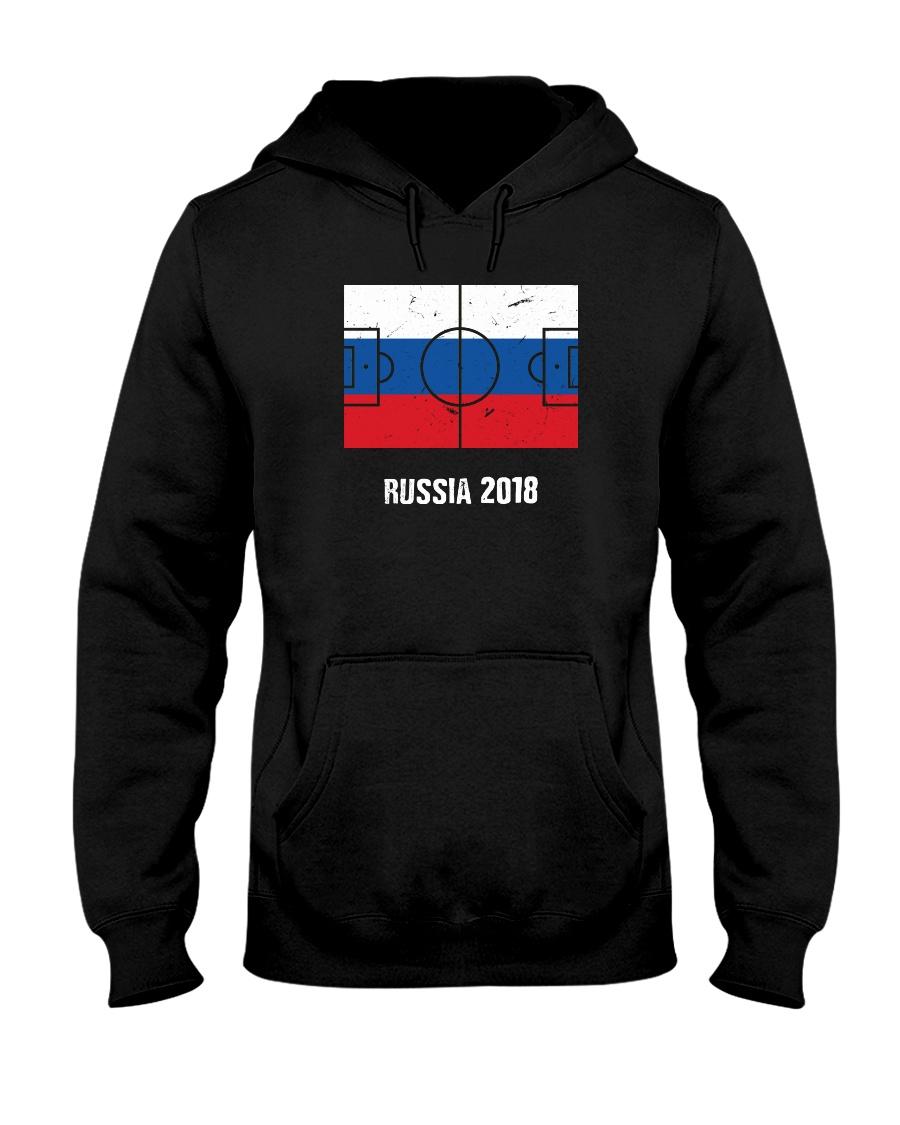 Russia Team World Cup 2018 Flag Jersey Hooded Sweatshirt