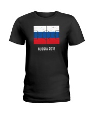 Russia Team World Cup 2018 Flag Jersey Ladies T-Shirt thumbnail