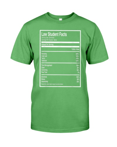 Law Student Facts Funny Future Lawyer Tee Shirt