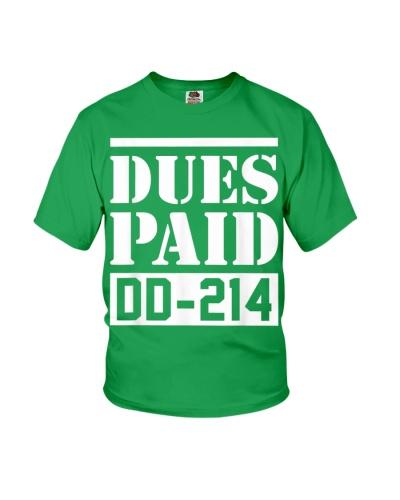 Dues Paid Proud Veteran Dd-214 - T-Shirt