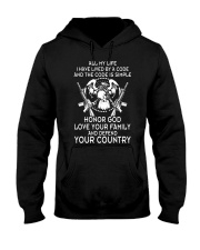 ALL MY LIFE HAVE LIVED BY A CODE Hooded Sweatshirt thumbnail