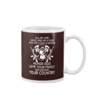 ALL MY LIFE HAVE LIVED BY A CODE Mug thumbnail