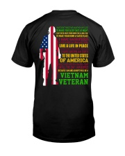 VETERAN I HAVE DONE THINGS THAT HAUNT ME  Classic T-Shirt back
