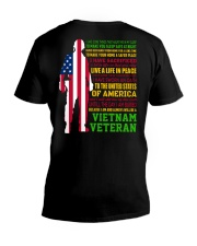 VETERAN I HAVE DONE THINGS THAT HAUNT ME  V-Neck T-Shirt tile