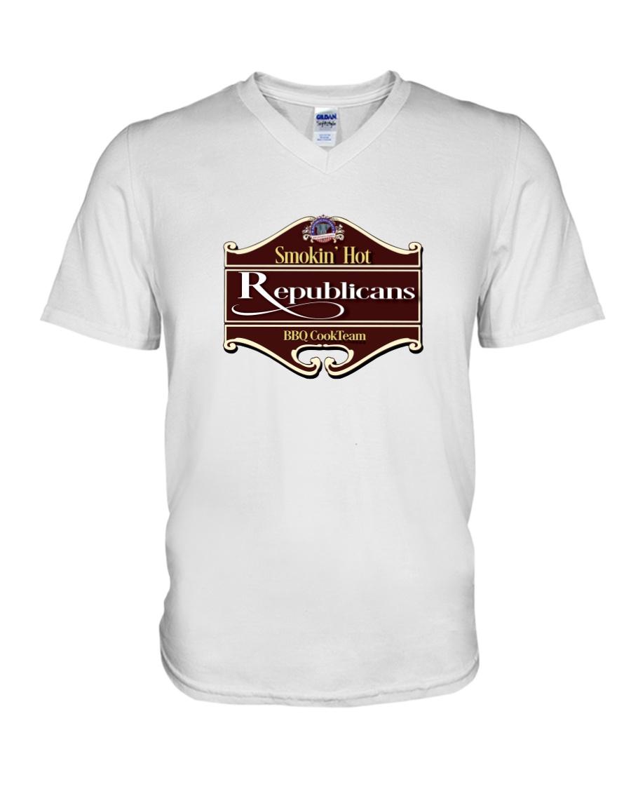 Smokin Hot Republicans BBQ Team V-Neck T-Shirt