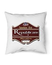 "Smokin Hot Republicans BBQ Team Indoor Pillow - 18"" x 18"" thumbnail"