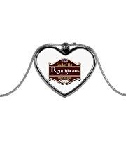 Smokin Hot Republicans BBQ Team Metallic Heart Necklace thumbnail