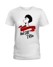 Still I Rise African-American Natural Hair Woman Ladies T-Shirt thumbnail
