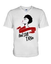Still I Rise African-American Natural Hair Woman V-Neck T-Shirt thumbnail