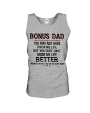 Bonus Dad Thanks for putting up with my Mom Unisex Tank thumbnail