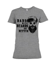 Dad with Beards are better new Premium Fit Ladies Tee thumbnail