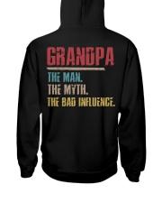 Grandpa The Man The Myth The Bad Influenci Hooded Sweatshirt thumbnail