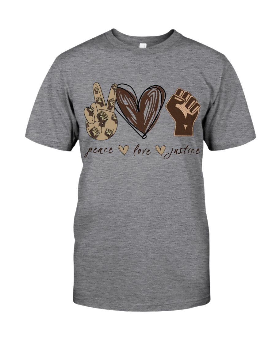 Peace - Love - Justice Classic T-Shirt