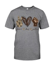 Peace - Love - Justice Classic T-Shirt tile