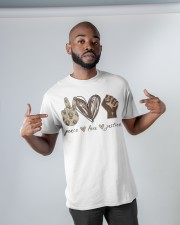 Peace - Love - Justice Classic T-Shirt apparel-classic-tshirt-lifestyle-front-32