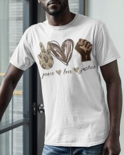 Peace - Love - Justice Classic T-Shirt apparel-classic-tshirt-lifestyle-front-39