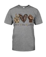 Peace - Love - Justice Premium Fit Mens Tee thumbnail