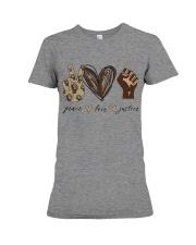 Peace - Love - Justice Premium Fit Ladies Tee thumbnail