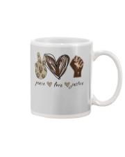 Peace - Love - Justice Mug thumbnail