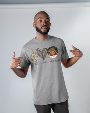 Peace - Love - Melanin Classic T-Shirt apparel-classic-tshirt-lifestyle-front-32
