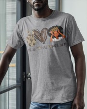 Peace - Love - Melanin Classic T-Shirt apparel-classic-tshirt-lifestyle-front-39