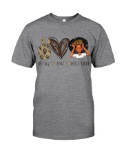 Peace - Love - Melanin Classic T-Shirt thumbnail