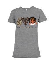 Peace - Love - Melanin Premium Fit Ladies Tee thumbnail