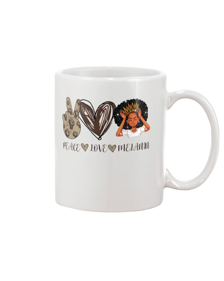 Peace - Love - Melanin Mug