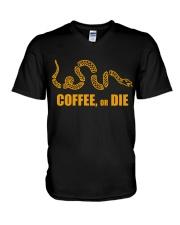 Coffee or Die V-Neck T-Shirt thumbnail