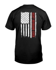 American Flag Husband Classic T-Shirt back