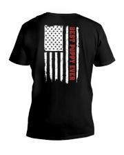 American Flag Poppy V-Neck T-Shirt thumbnail